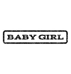 baby girl watermark stamp vector image