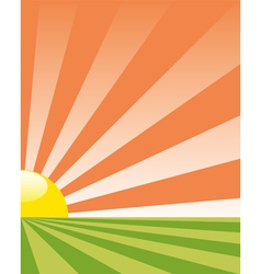background with rising sun vector image