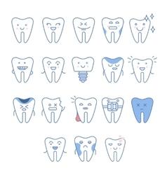 Big Dental Teeth Collection vector