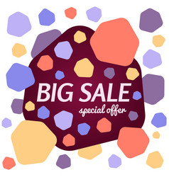 big sale special offer banner on white background vector image