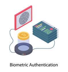 Biometric authentication vector