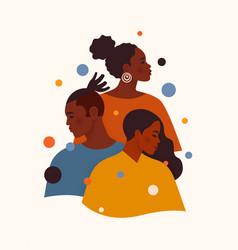 Black lives matter african american man and women vector