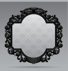 Black vintage carved classic frame with white vector