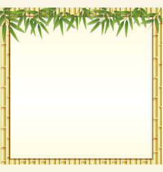 Border template with brown bamboo stems vector