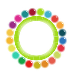 Bright colorful circular scheme template vector