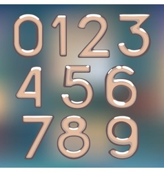 Brilliant figures digit drawing metal number figur vector