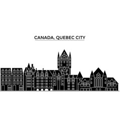 Canada quebec city architecture city vector