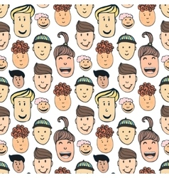 Cartoon seamless pattern with vector image