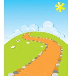 Cartoons road vector