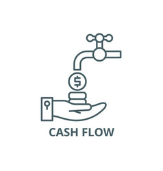 cash flow line icon cash flow outline vector image