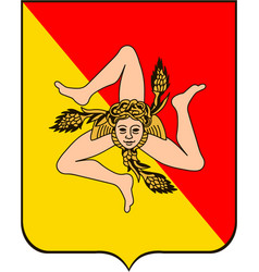 Coat arms sicily italy vector