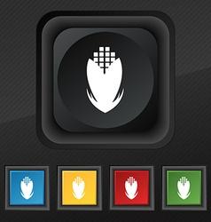 Corn icon symbol Set of five colorful stylish vector
