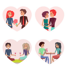 couples in love set of images vector image