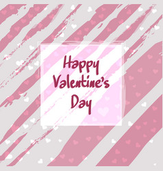 cute greeting card of happy valentines day vector image