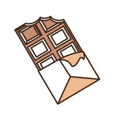 Delicious chocolate candy bar vector