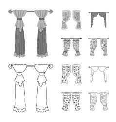 Design curtains and drapes symbol set vector