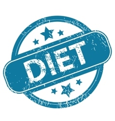 DIET round stamp vector image