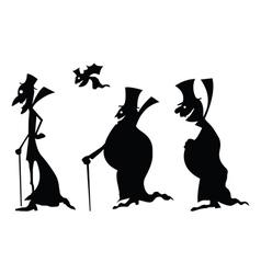 dracula black silhouettes vector image