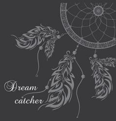 dream catcher dark background vector image