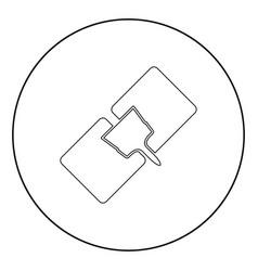 Drywall repair icon black color in circle vector
