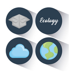 ecology clean energy icons vector image