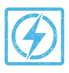 Electricity Icon Rubber Stamp vector
