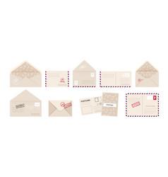 envelope and greeting card cartoon invitation vector image