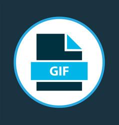File gif icon colored symbol premium quality vector