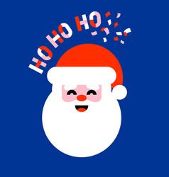 Flat icon of santa claus saying ho ho ho vector