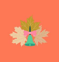 Flat icon on stylish background alarm school bell vector