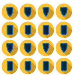 Flat shields set vector
