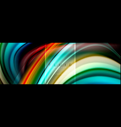fluid colors abstract background colorful poster vector image