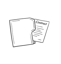 folder with contract paper vector image