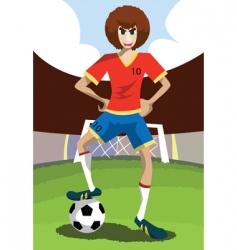 Footballer vector