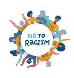 group diverse people standing together in vector image