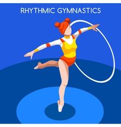 Gymnastics Rhythmic Hoop 2016 Summer Games 3D vector