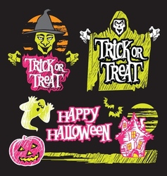Halloween background design vector