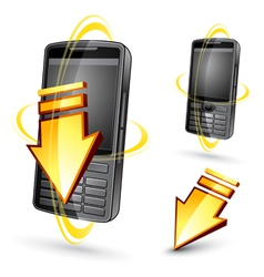 hand-held electronic devices vector image vector image