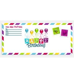 Happy birthday invitation card vector