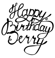 Happy birthday jerry name lettering vector