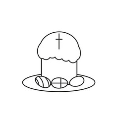 Happy easter an egg icon the holiday vector