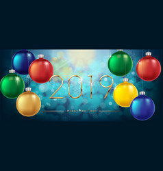 happy new year 2019 background new year colorful vector image