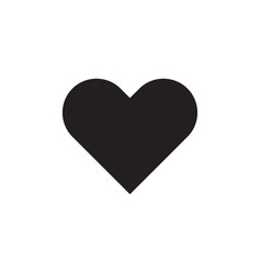 Heart - black icon on white background vector