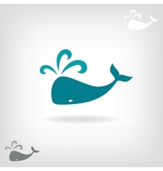 Image of a big whale vector