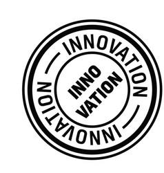 Innovation stamp in german vector