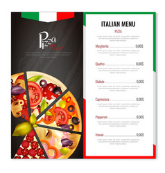 Italian pizza menu design vector