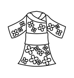 japanese typical costume female vector image