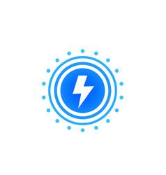 Lightning bolt electric power vector