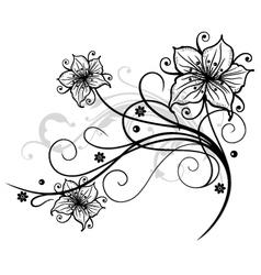 Lilies border vector