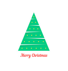 merry christmas with abstract xmas tree vector image